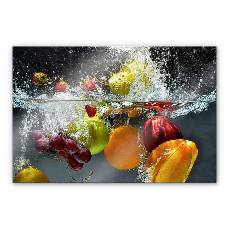 XXL Wanddecoratie Acrylglas Verfrissend Fruit