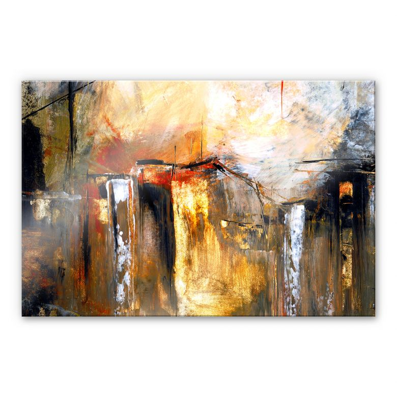 Acrylglasbild Niksic - Licht und Landschaft