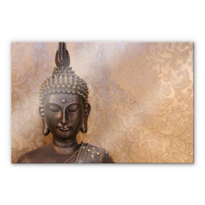 Tableau en verre acrylique - Bouddha le sage