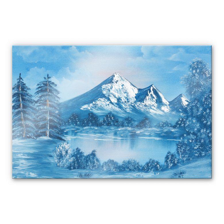 Acrylglasbild Toetzke - Alpsee in den Bergen