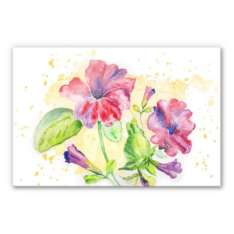 Acrylglasbild Toetzke - Leuchtender Blütenkelch