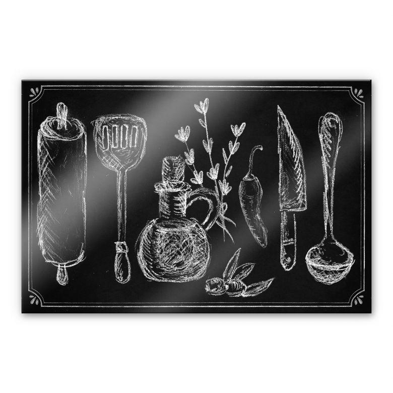 Stampa su acrilico cucina rustica for Paraschizzi cucina plexiglass