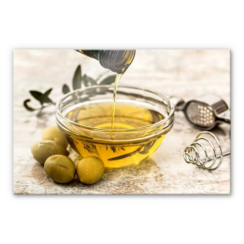 Acrylglasbild Olivenöl