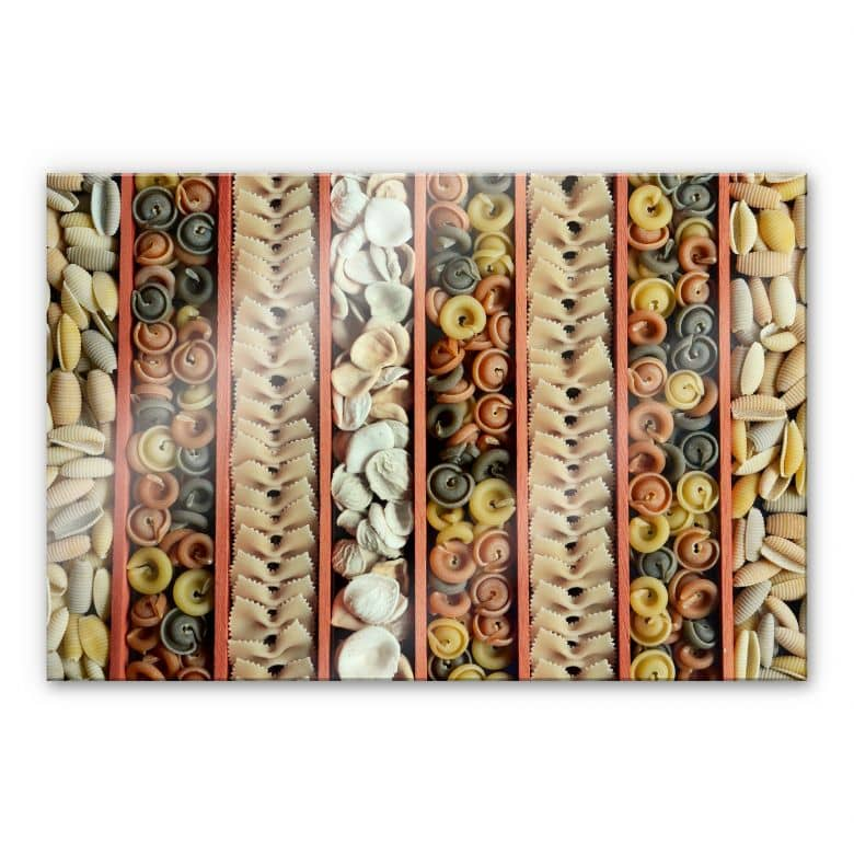 Acrylglasbild Pasta Collection