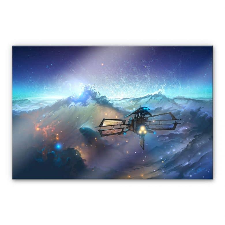 Acrylglasbild aerroscape - Die See des Weltraums