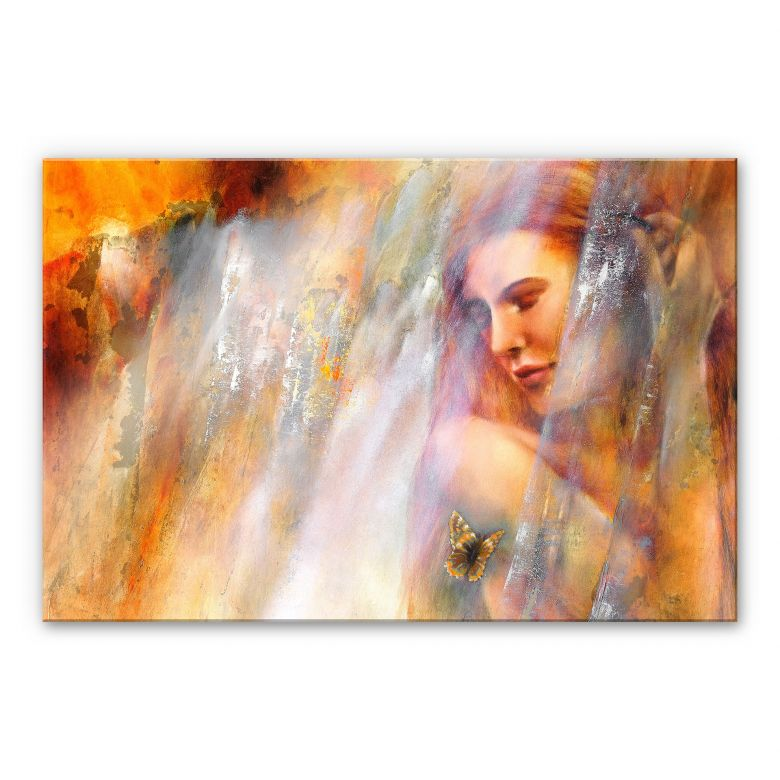 Acrylglasbild - Schmucker - Laura mit Schmetterling