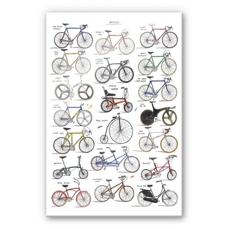 Acrylglasbild Sparshott - Fahrräder