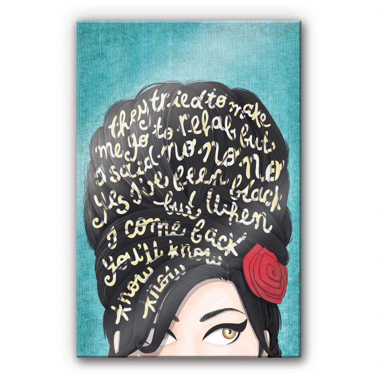 Acrylglasbild Tohmé - Amy Winehouse: Rehab