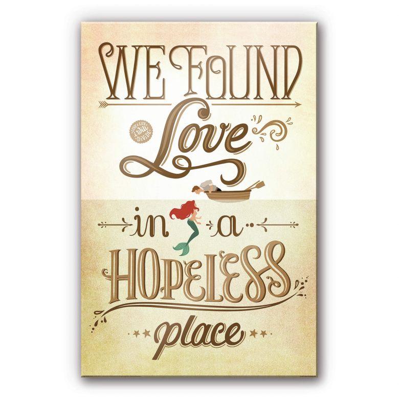 Acrylic Glass Tohmé - We found Love