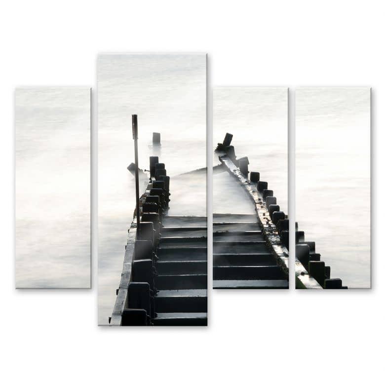 Acrylglasbild Way to nowhere 02 (4-teilig)