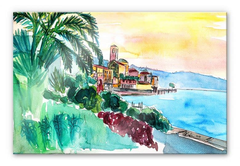 Acrylglasbild Bleichner - Wonderful Lago Maggiore