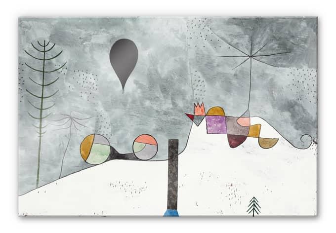 Acrylglasbild Klee - Winterbild