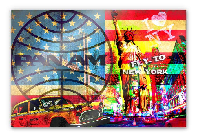 Acrylglasbild PAN AM - New York