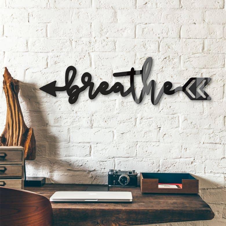 Acrylbuchstaben - Breathe arrow