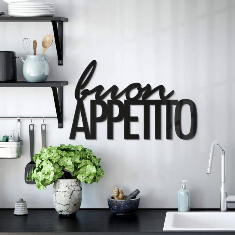Acrylbuchstaben Buon Appetito