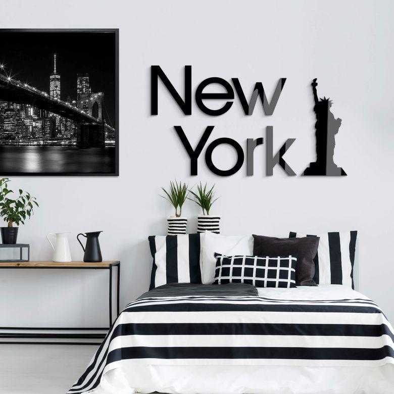 Acrylbuchstaben New York -  Freiheitsstatue
