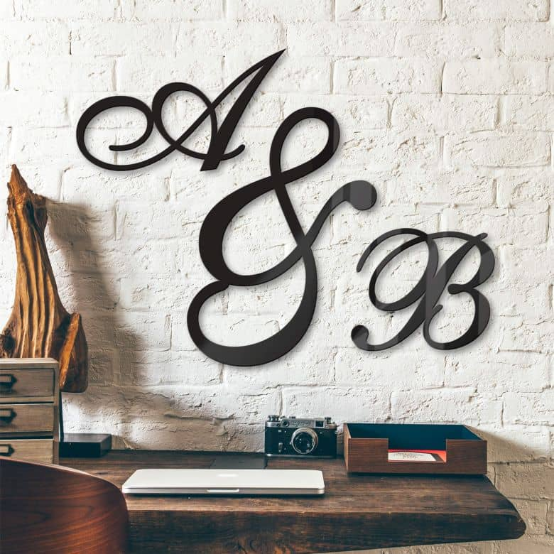 Decorative Letters Acrylic - Calligraphic Style