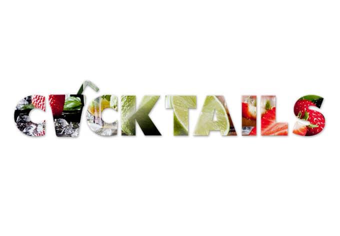Acrylbuchstaben Cocktails