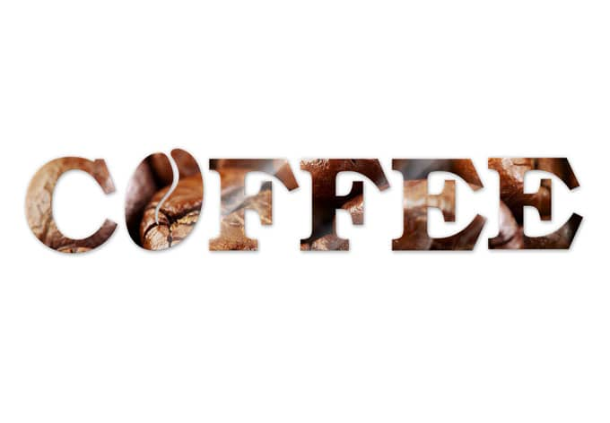Acrylbuchstaben Coffee