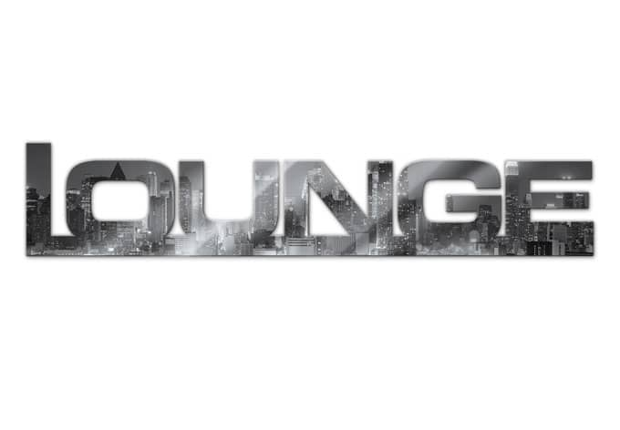 Acrylbuchstaben Lounge