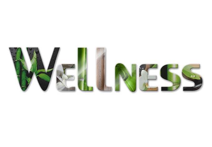 Acrylbuchstaben Wellness