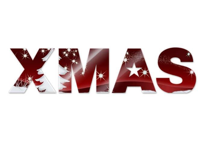 Acrylbuchstaben X-MAS 01