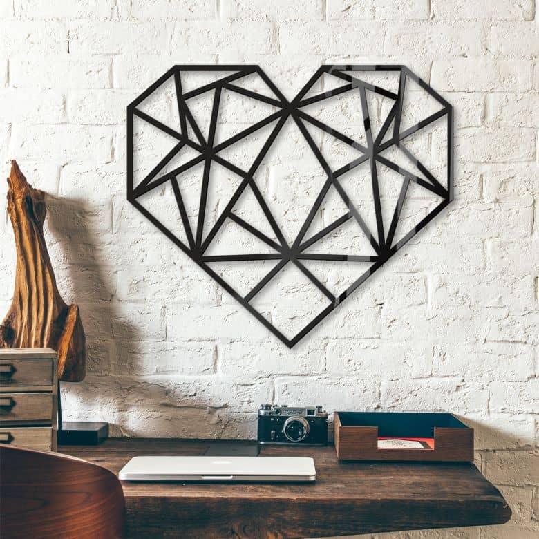 Acryldeko Origami Herz
