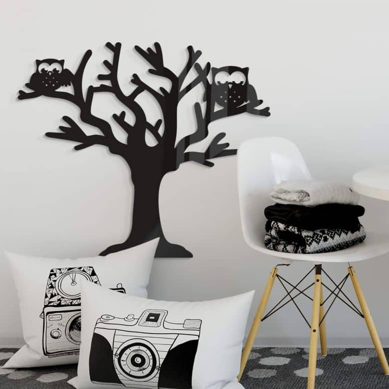 Acrylic Art - Tree with Owls