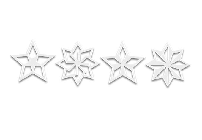 Acryldeko Baumschmuck Sterne Geo (4-tlg.)