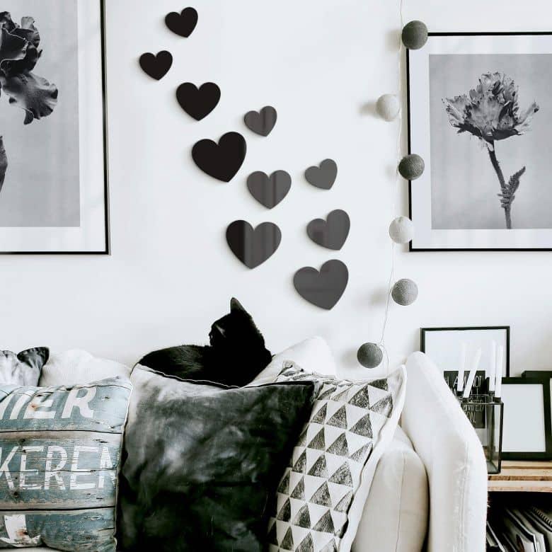 Acryldeko Herzen Set (10-teilig)