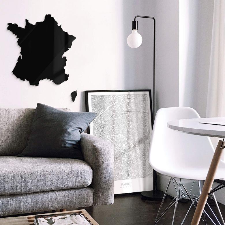 Décoration en verre acrylique - Carte de France