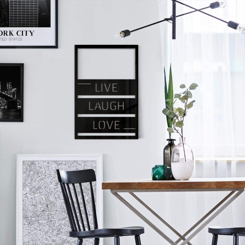 Wanddecoratie Live Laugh Love