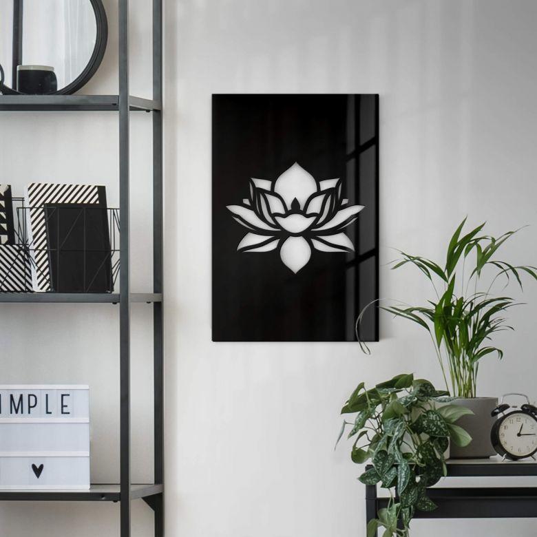 Acryldekobild - Lotusblume