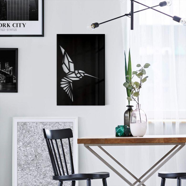 Wanddecoratie Origami Kolibrie
