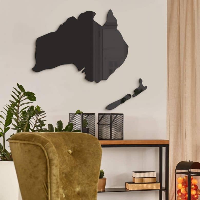 Wanddecoratie Kaart Australie & Nieuw Zeeland