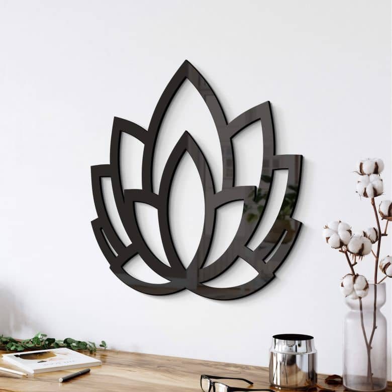 Acryldeko Yoga Lotusblume