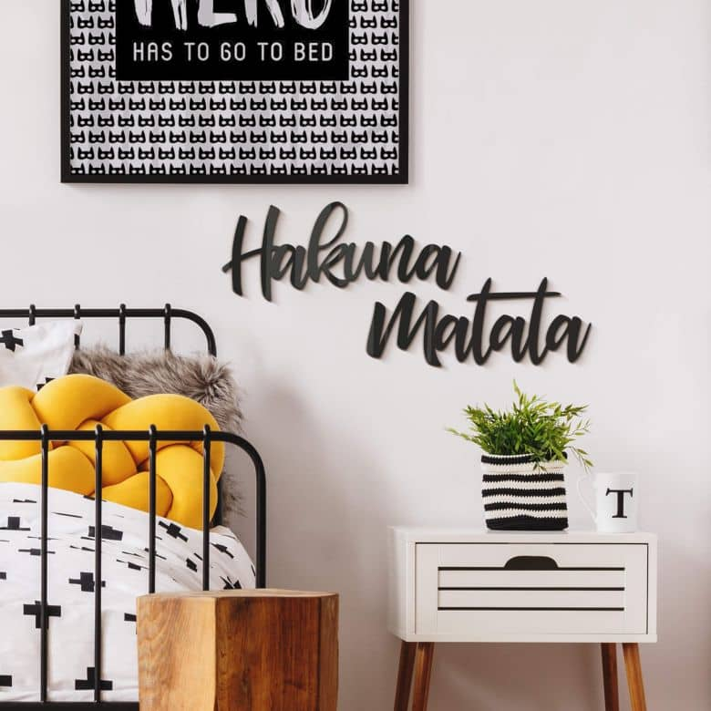 Scritta in acrilico - Hakuna Matata | wall-art.it