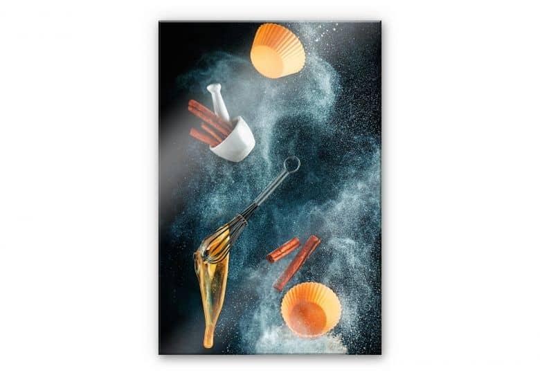 Acrylglasbild Belenko - Kitchen mess: cinnamon cupcake