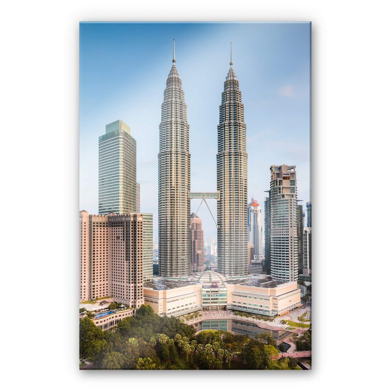 Acrylglasbild Colombo - Petronas Towers in Kuala Lumpur