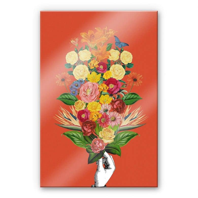 Acrylglasbild Feldmann - Botanical Red