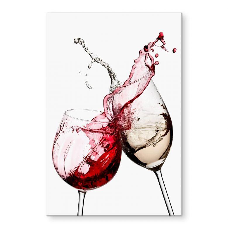 Acrylic Print Wine Glasses