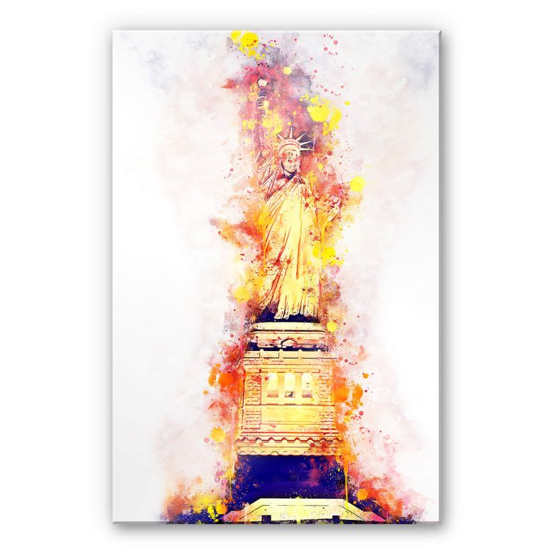 Acrylic Print Hugonnard - Watercolour: Statue of Liberty