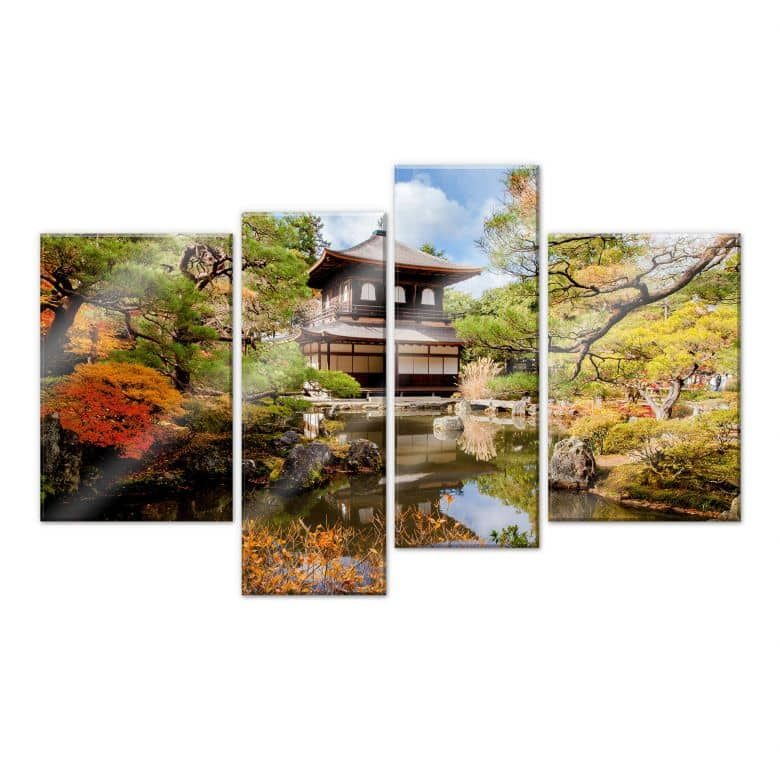 Acrylic glass Japanese Temple 2 (4-parts)