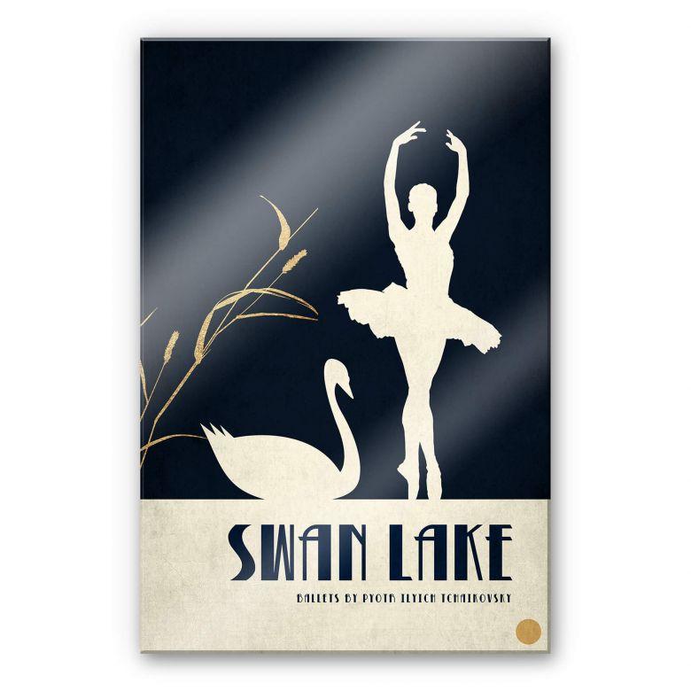 Acrylglasbild Kubistika - Schwanensee - Swan lake