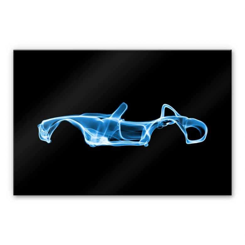 Acrylglasbild Mielu - Blue car
