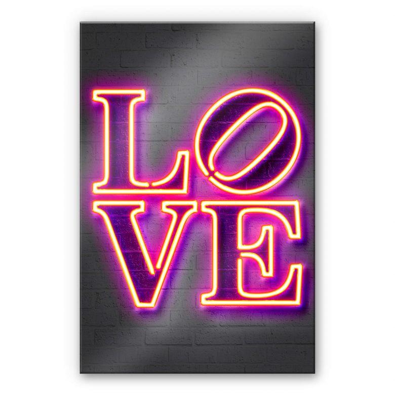 Acrylglasbild Mielu - Love