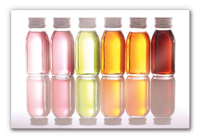 Acrylglasbild Oil Bottles