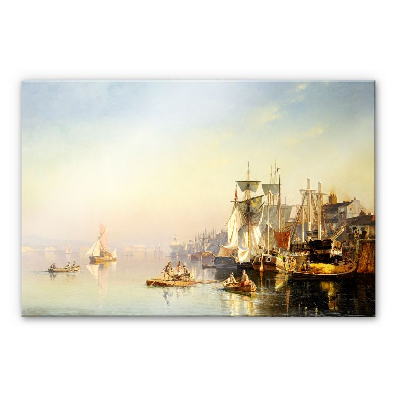 Acrylglasbild Neumann - Fischerboote und Kähne auf der Themse bei Greenwich