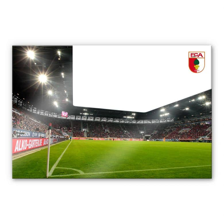 Acrylglasbild FC Augsburg Stadion Eckfahne