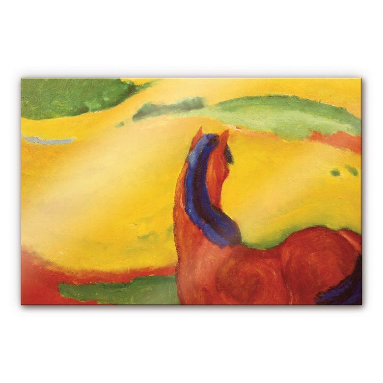 Acrylglasbild Marc - Pferd in der Landschaft